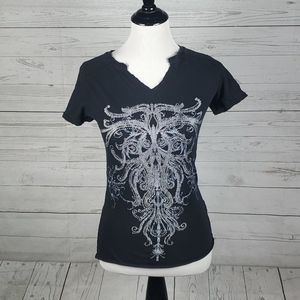 Rock&Roll Cowgirl womens distressed vneck …